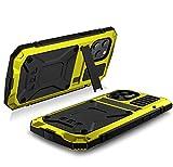 360 Full Protect Custodia per iPhone 12 Pro Max Custodia antiurto Luxus Funda per iPhone 12 Mini Max Cover Metal Armor Giallo