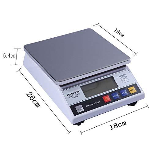 Intelligente elektronische weegschaal keuken weegschaal precisie in roestvrij staal 0,1 g en 0,01 g tellweegschaal fruit levensmiddelen schaal LCD-HD-display 10 kg 1 kg