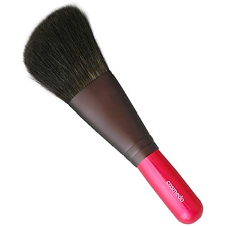 匠の化粧筆コスメ堂 熊野筆 メイクブラシ 灰リス100% ナナメ フェイスブラシ(パウダーブラシ)日本製 ショートタイプ PK-F01