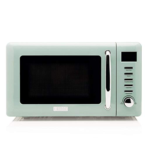 Haden Cotswold Sage Microwave, 20ltr Capacity, 800W, 60 Minute Timer, 5 Power Levels, Digital Controls-CF27