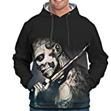 Pirat Skulpt-Mirror Novelty Casual Colorful Hoodies with Pocket Boys and Girls Cool White m