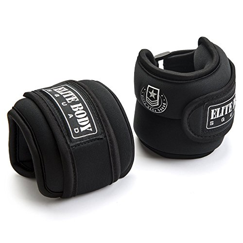 Elite Body Squad Ankle Weights Pro Quality Adjustable Leg Weights 1kg x 2 - On...