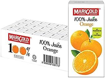 MARIGOLD 100% Juice Orange, 24 x 200ml