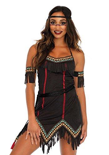 shoperama Tiger Lily Damen-Kostüm von Leg Avenue Indianerin Squaw Kleid sexy, Größe:M
