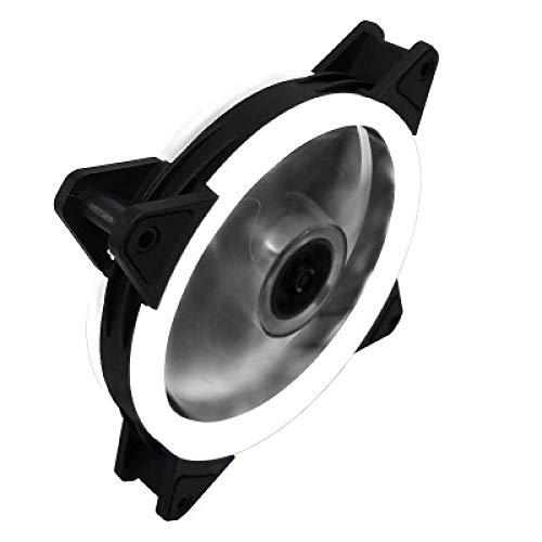 CYONGYOU Computadora Host de Escritorio Ventilador del chasis Ventilador del chasis de 12 cm Ventilador de enfriamiento silencioso Interfaz Dual Blanco