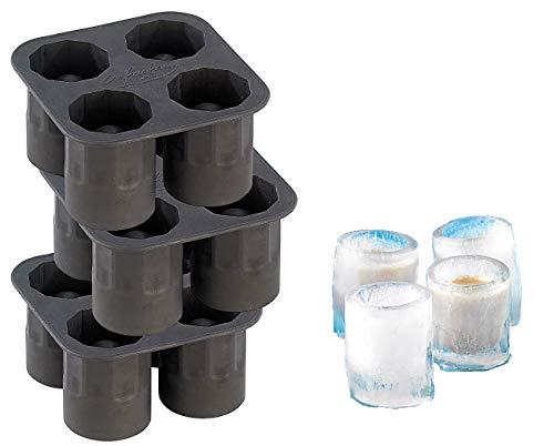 infactory Eisgläser: Silikon Eisglasform 3er-Set für 12 große EIS-Gläser 4 cl (Eisgläser selber machen)
