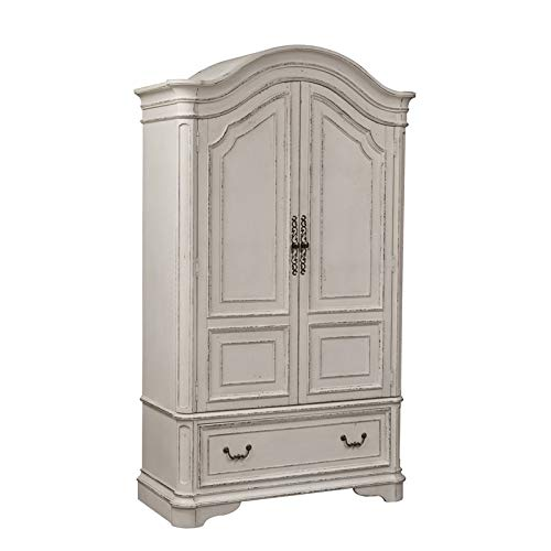 Liberty Furniture Industries Magnolia Manor Armoire, W48 x D22 x H82, White