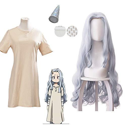 Anime Boku no My Hero Academia Eri Cosplay disfraz pelucas cuerno disfraces de Halloween vestidos largos ropa para mujer