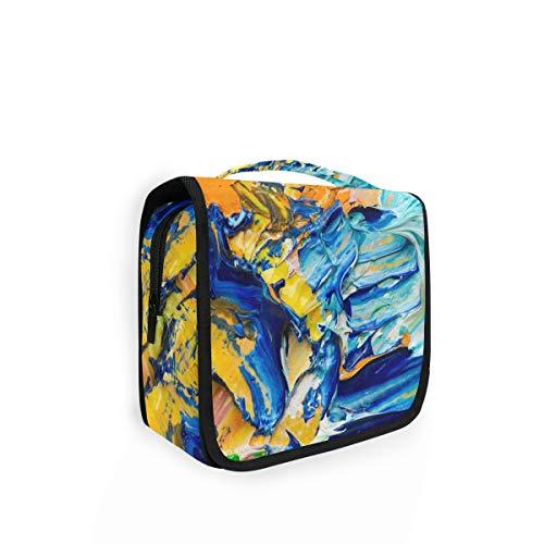 XIXIKO Kosmetiktasche zum Aufhängen, mit verschiedenen Ölfarben, zum Aufhängen, Reisetasche, Organizer, faltbar, Kosmetiktasche, Make-up-Tasche für Frauen und Mädchen