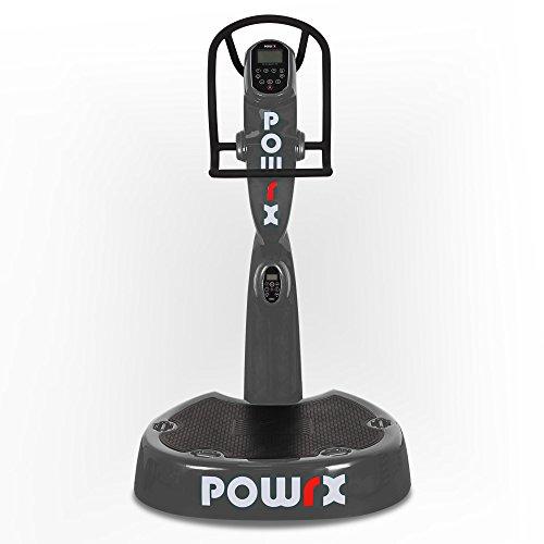 POWRX Vibrationsplatte Pro Evolution 3.5 inkl. Zubehörpaket I Effektives Vibrationstraining wie im Studio I grau