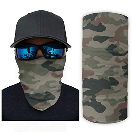 Hombres y Mujeres Camuflaje Magia Headwear Multifuncional Bandana al aire libre Transpirable Tela se puede utilizar como diademas UV Sol/Viento Pasamontañas para Deportes Blanco onesize