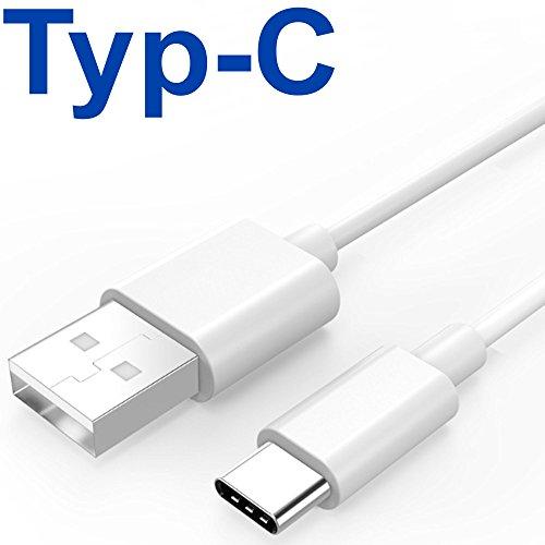 tomaxx USB Typ C Kabel Weiss - Datenkabel USB 3.1 A Type C Ladekabel für ZTE Axon 7 / ZTE Axon 7 Mini SuperSpeed Datenübertragungen bis 5 Gbit/s