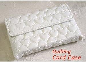 ハート型キルティング カードケース ホワイト
