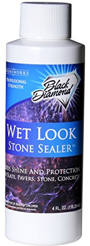 Black Diamond Stoneworks Wet Look Natural Stone Sealer Provides Durable Gloss and Protection to: Pavers, Slate, Concrete, Sandstone, Driveways, Garage Floors. Interior or Exterior. (Trial)
