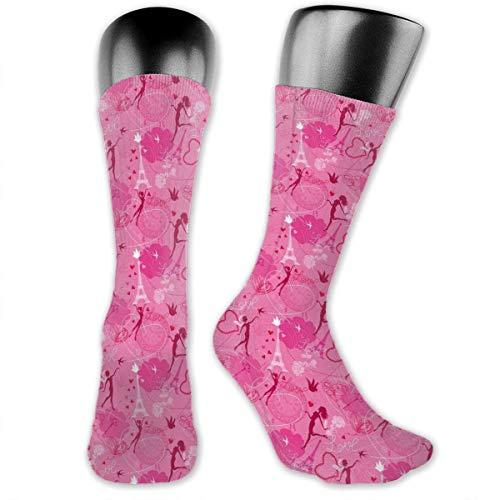 vnsukdlfg Compression Medium Calf Socks,Flying Elves Eros Love Town Center Of Romance Magic City Valentines Day Concept