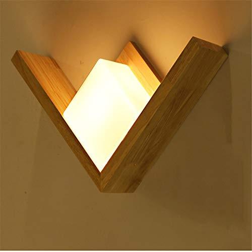 MJSM Light Wandlamp plafondlamp nu in naam van eenvoudige ideeën voor de kunst, decoratieve wandlamp van hout