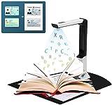 TZUTOGETHER Portátil Escáner de Alta definición, Cámara de Documentos con Escáner De Alta Definición Portátil Ocr En Varios Idiomas Inteligente Tamaño Máximo A4 para de Oficina y educación
