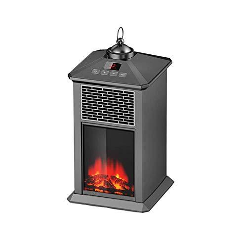 MMJF Elektro-Kamin Heizung für Innenraum, freistehend Kamin-Ofen mit realistischem Flammenbild, Hitzen Sicherheit Schutz Herd Feuer (800 W)