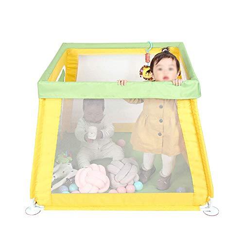 JALAL Klappbarer Laufstall für Kleinkinder mit Reißverschlusstür, Baby-Raumteiler-Laufstall, tragbares Aktivitätscenter für drinnen und draußen