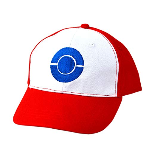 Mingzuo Chapeau de Cosplay Pokémon Logo Chapeau de Baseball ete Casquette Respirant Bonnet de Coton Mode Sport Chapeaux Réglable Taille