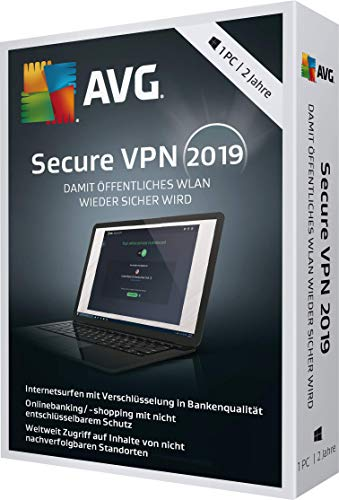 AVG Secure VPN 2019 - 1 PC / 2 Jahre|2019|1 PC / 2 Jahre|24 Monate|PC, Laptop|Download|Download