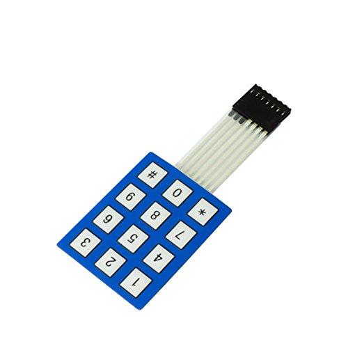 MissBirdler Teclado de 12 teclas Matrix de 50 x 42 mm, conmutador, teclado para Arduino Raspberry Pi