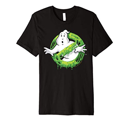 Ghostbusters Classic Slime Ghost Logo Premium T-Shirt