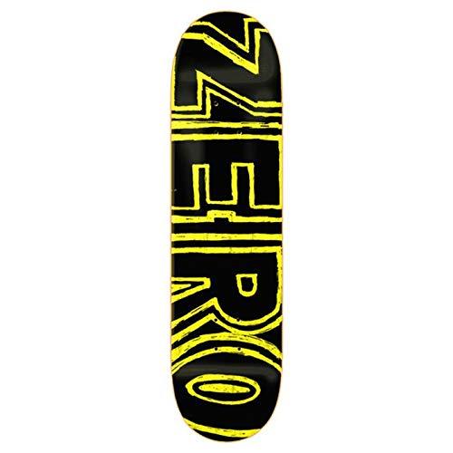 Zero Skateboards, Skateboard, PP, Hand Drawn Bold Yellow 8.25 x 31.9 WB 14.2
