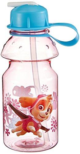 Zak Designs Paw Patrol 14oz Kids Water Bottle with Straw - BPA Free with Easy Clean Design, Paw...