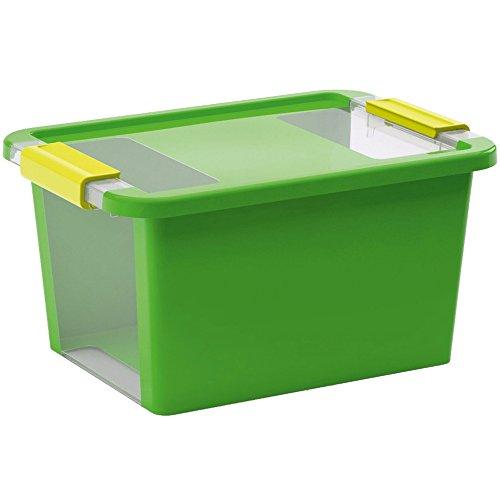 Kis 8452000 0117 01 Aufbewahrungsbox Bi Box 11 Liter in grün-transparent, 36.5x26x19 cm
