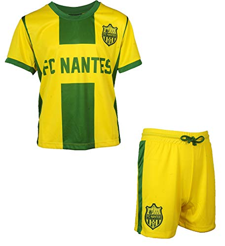 Trikot + Shorts FC Nantes–Offizielle Kollektion FCNA Ligue 1–Größe Kind Jungen 14 Jahre gelb