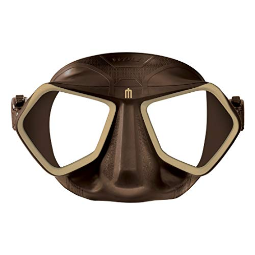 Omer Wolf Mask Low Volume Freediving Spearfishing Mask (Brown)