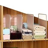 Étagères séparateurs de placard amovible, 4 pièces/ensemble de séparateurs de vêtements séparateurs de placard organiseur de séparation
