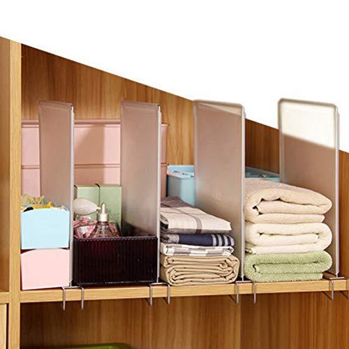 Ripiano divisorio rimovibile per armadio, 4 pezzi, per guardaroba, separatore per vestiti, salvaspazio, scaffale per cucina e camera da letto