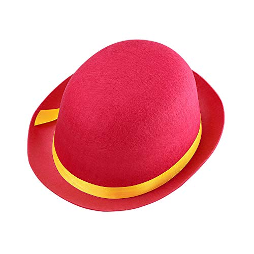 WIDMANN 32633  Sombrero de Payaso para nios, Color Rosa y Amarillo, meln de Fieltro, Sombrero, Disfraz, Carnaval, Fiesta temtica