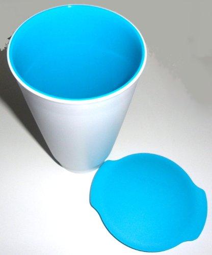 Tupperware Allegra Cup Gobelet/pot à yaourt Blanc/turquoise 450 ml