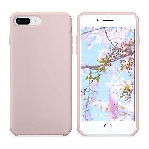 SURPHY Funda para iPhone 8 Plus iPhone 7 Plus Silicona Case, Carcasa iPhone 8 Plus /7 Plus Case, Fundas Silicona Líquida con Forro de Microfibra, Compatible con iPhone 7 Plus/8 Plus 5.5', Rosa