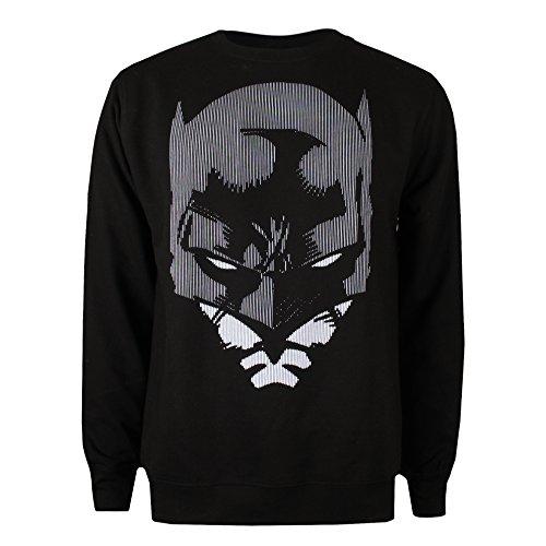 DC Comics Batman Lines Jersey, Negro (Black BLK), Large para Hombre