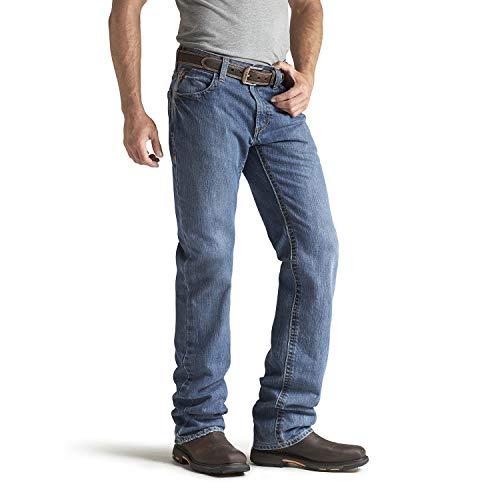 Ariat Men's Flame Resistant M3 Loose Fit Jean, Flint, 36x32
