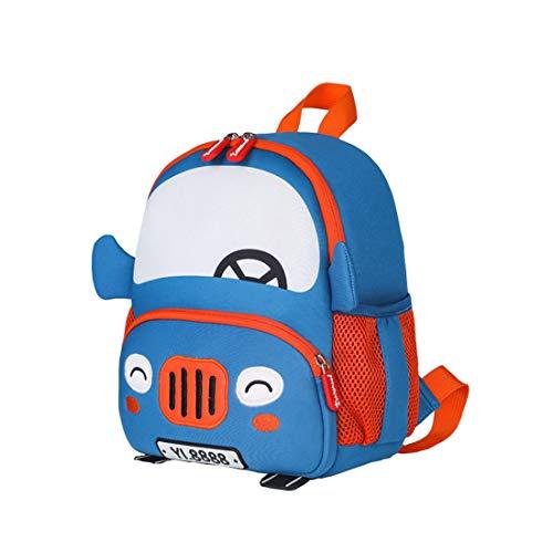 Cool&D Baby Rucksack Kindergarten Rucksack Cartoon Muster Schultasche Anti-verloren Rucksack für Jungen und Mädchen 1-6 Jahre (Auto 23 * 10 * 27cm)