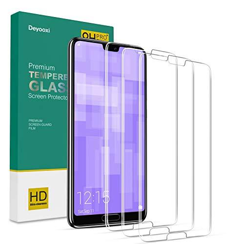 Deyooxi 3 Pezzi Vetro Temperato per Huawei P20 PRO,Pellicola Protettiva in Vetro Temperato Screen Protector Film per Huawei P20 PRO,Protezione Schermo,Anti-graffio,Anti-Impronta