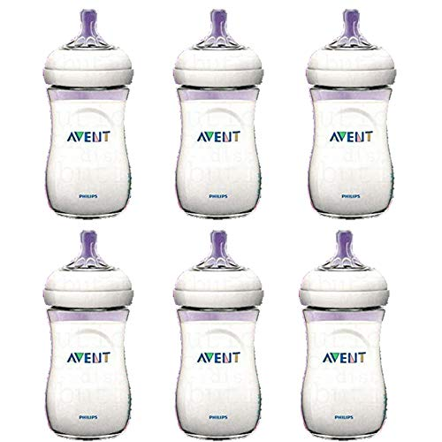 6 x Philips AVENT 260ml 9oz Baby Feeding Bottle Natural Range 1month+ Anti Colic - Reduces Colic BPA Free
