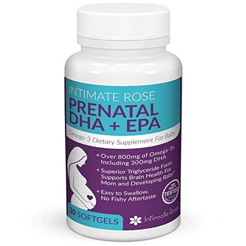 Intimate Rose - Prenatal DHA Supplement - Prenatal Omega 3 - Essential Pregnancy Vitamins - EPA Supplement for Healthy Mother and Baby - DHA 300mg, Total Omega-3 800mg