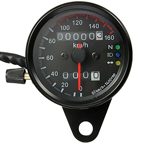 Odómetro Universal Black Backlight Signal Okometer Speedometer Motorcycle Custom Cafe Racer Old School