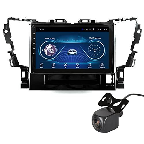 GLXQIJ para Toyota Alphard 2015-2018 Android 10.0 FM Radio Receptor Auto Audio Player Coche Estéreo De 9 Pulgadas Pantalla Táctil Monitor GPS Navegación, 4 Core +WiFi, con Camara Trasera,4+64G