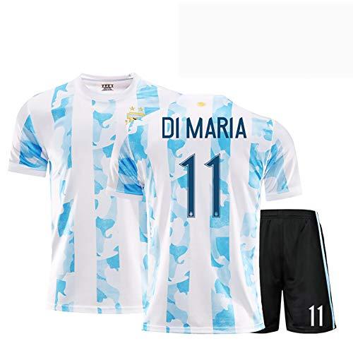 Mens Football Jersey Argentinien 2020/21 National Football Team Home Anzüge, Otamendi 10# 11#Di María Training Jersey Für Erwachsene & Kinder Geschenk Für Tägliche F BackN11-XXL