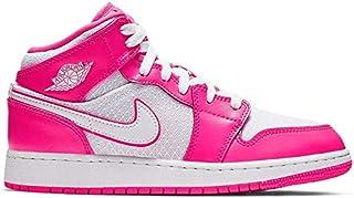 66c88e5650404d Jordan 555112-611  Air 1 Mid Girls Hyper Pink White White Basketball