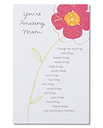 American Greetings Youre Amazing Floral Birthday Greeting Card for Mom with Glitter