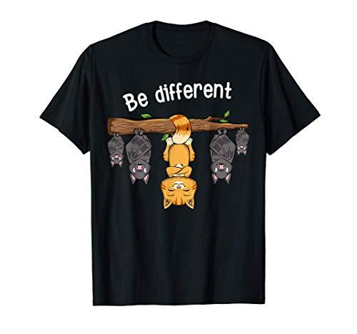 Lustiges Be Different Katze T-Shirt