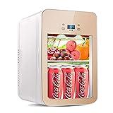 JUEJIDP Refrigerador Compacto, bajo Consumo de energía Mini refrigerador Super Tranquilo, para Dormitorio, Oficina, RV, Garaje, apartamento,Oro